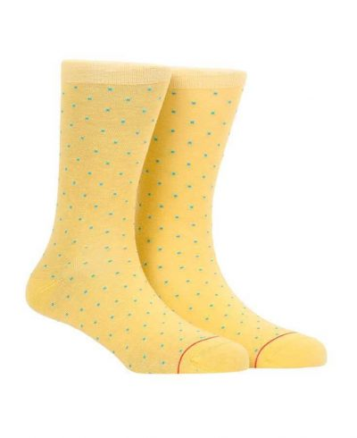 socks with dots yellow