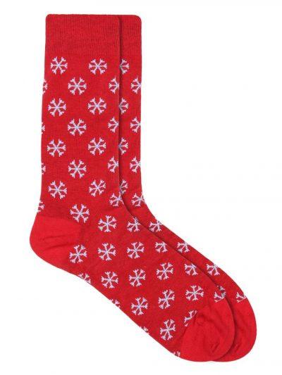 christmas snowflake sock