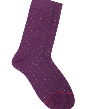 socks with dots purple