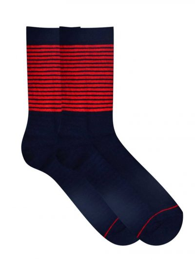 comfort socks red and blue