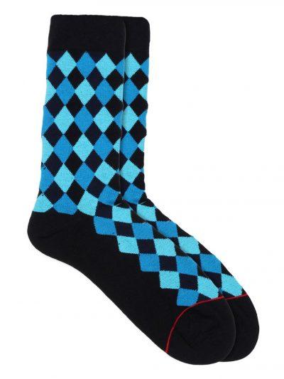 diamond crew socks blue
