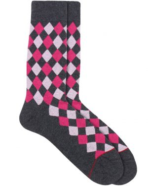 diamond crew socks pink