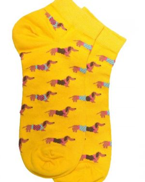 dog socks yellow