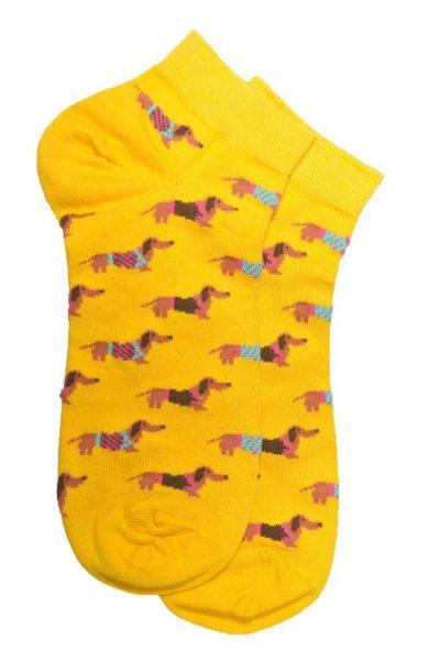 dog socks yellow