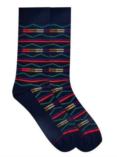 tribal sock blue