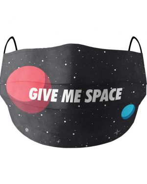 give me space face mask front